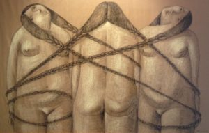 annie-kurkdjian-art-three-sisters-in-chains-2013