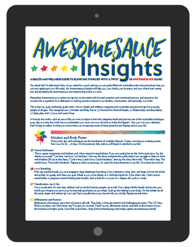 Download your FREE health and wellness guide: Awesomesauce Insights