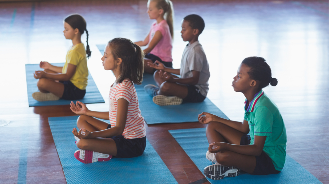 Kids Meditating At School